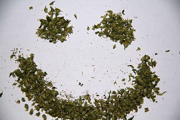 Marijuana Smile