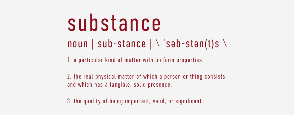 Substance Definition